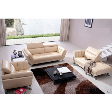 5 SEATER LEATHER SOFA