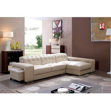4 SEATER L - SHAPED SOFA WITH OTTOMAN