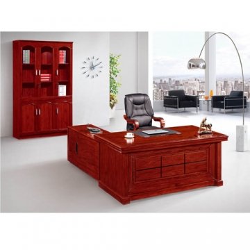 EXECUTIVE OFFICE MAHOGANY DESK AND CABINET