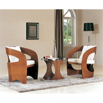 LEISURE CHAIR AND END TABLE
