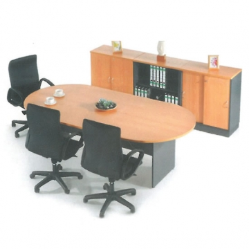 3 Piece Conference Workstation + Wall Cabinet VD-EN3260