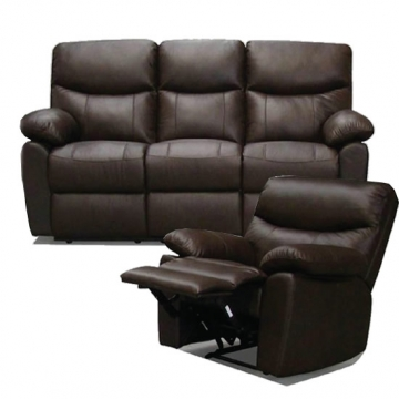 3-seater leather settee + Recliner VD-SE007
