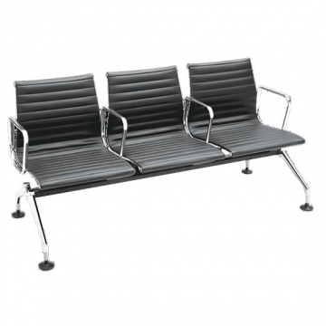 3-seater leather waiting lounge VD-R54