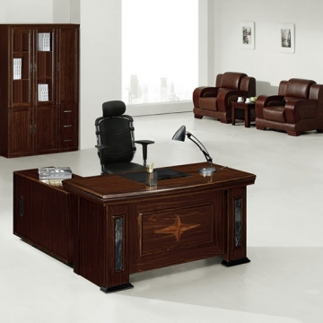 5 piece executive suite, wood & traditional leather VD-ES002