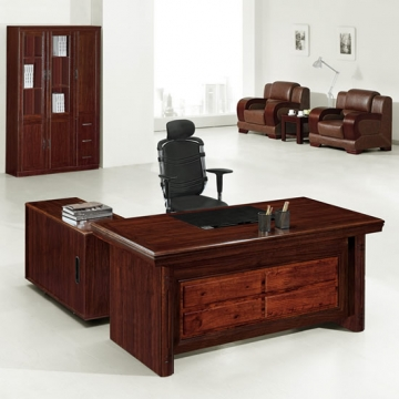 5 piece executive suite, wood & traditional leather VD-ES003