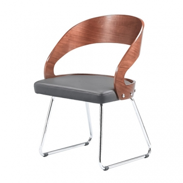 WALNUT LEISURE CHAIR WITH PADDING