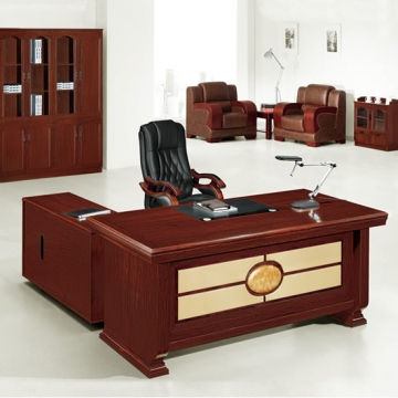 6 piece executive suite, wood & traditional leather VD-ES008