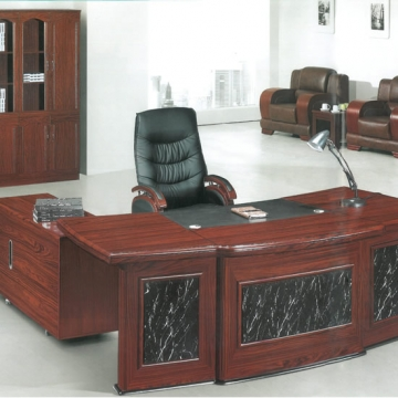 6 Piece executive suite with wood & leather finish VD-ES001
