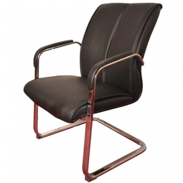 VISITORS LEATHER CHAIR-PADDED ARMS