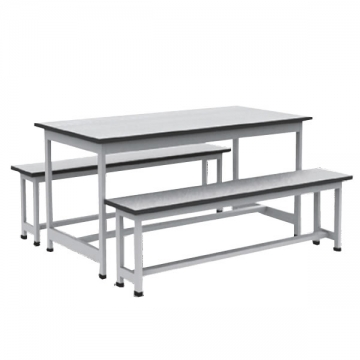 Double Bench & Table Cafeteria Ensemble VD-CF20