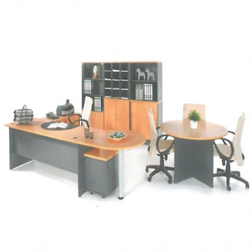 Modern workstation + Detached Coneference + Wall Unit VD-EN3258